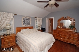 Vaulted Ceiling and Ceiling Fan, Hardwood Floors