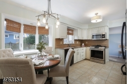 Modern light fixtures, Anderson bay window, stainless steel sink and SS microwave and range