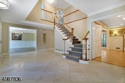 Stunning Foyer with Marble Flooring