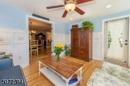 Beautiful room with door to front porch