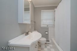 First Floor full bath with shower tub.