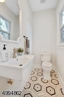 Conveniently located and stylish powder bath