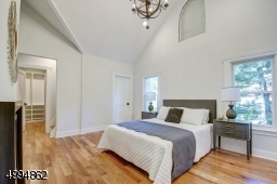 Exquisite master retreat boasts vaulted ceilings, feature lighting, fireplace, walk-in-closet with custom organizers, an extra closet and a unique 3rd fl loft/art/yoga studio in the tower
