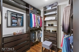 Walk in closet with great built ins
