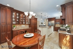 True custom cabinetry is hard to find these days. This kitchen is complete with its own desk area.