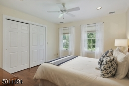 There are a total of 5 bedrooms on the 2nd floor. 2 bedrooms are Jack & Jill, Master Suite and the remaining 2 bedrooms share the Hall Bath.