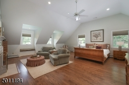 2 LARGE master walk-in closets, peek-a-boo fireplace to the master sitting area and just so spacious, soaring ceilings and new hardwood floors!