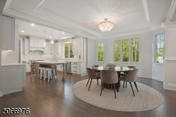 Breakfast area with bay windows and recessed ceiling
