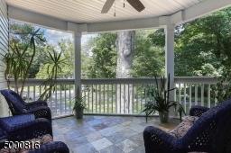 Serene spot with tile floor, lighted ceiling fan