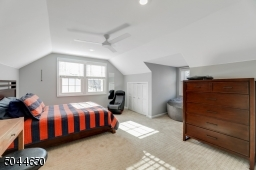 This second floor bedroom is large and has great light and a double, organized closet.