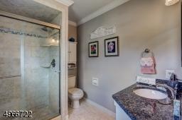 """Master shower is 48"""" x 32 """". Newer  exquisite sliding barn bathroom door."""