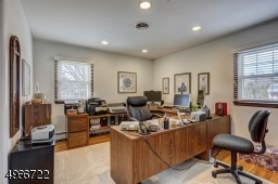 """Fourth bedroom is 14'.6"""" x 10'.1"""" is being used as an office. Oak wood flooring."""