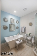 Isn't this bathroom very inviting? Great for relaxing at the end of the day!