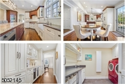 Butler?s Pantry featuring wall-to-wall storage / buffet serving area w/ chic mirrored backsplash, wet bar, glass cabinets flanked by floor-to-ceiling pantry storage, double wine refrigerator. Laundry RM featuring LG Steam W/D w/ abundant storage