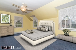 Sunny Master Bedroom (virtually staged)