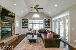 Vaulted Ceiling & Wood Burning Fireplace.