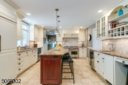 Center Island & Ample Cabinetry.