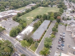 Overhead view of Park Middle School, the complex and CVS parking lot