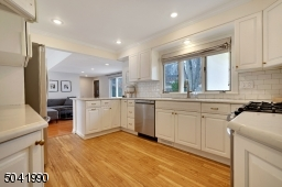 Sharp white kitchen will delight any cook.