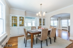 Beautiful hardwood floors and a soothing color palette are blended perfectly in the delightful dining room that flows seamlessly to the kitchen and living room for easy entertaining.