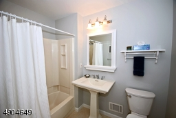 Pedestal sink, tub shower and new comfort height commodes.