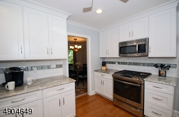 includes a GE Stainless steel package: refrigerator, microwave, dishwasher and a brand new gas stove.