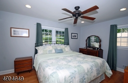 features recessed lighting ceiling fan, 2 closets, one a walk in and its own bath!