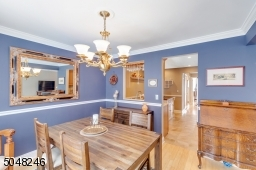 View of dining room to kitchen.