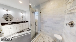 Stall Shower and Double Sink