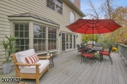 Spacious deck with gas grill hook-up for outdoor entertaining.