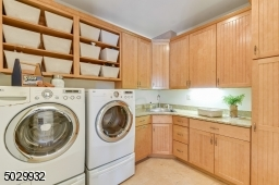 Convenient first floor laundry room.