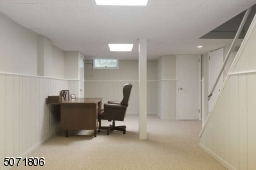 Finished Basement with office space or recreation room.