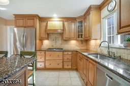 Very well designed kitchen.  Notice all of the counter space.