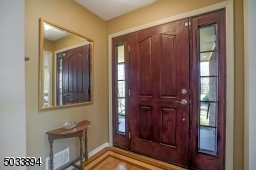 Solid wood door with sidelights .