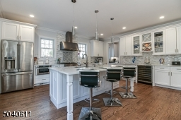 over sized island, quart counter tops