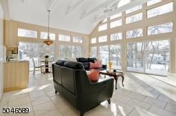 Radiant-heated limestone floors