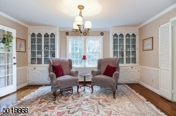 Formal Dining Room With Classic Built In China Cabinets