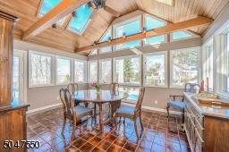 Dining Room with incredible views and deck