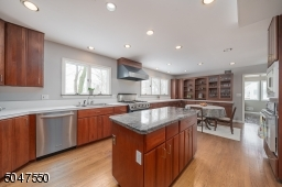 Sun drenched kitchen with an abundance of cabinet space, new dishwasher and new fridge