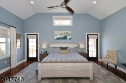 Vaulted Ceiling, his/her walk in closets and private bath