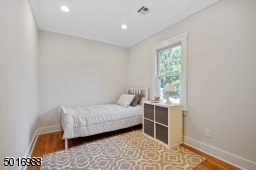 The coziest bedroom in the house features a large, deep closet.