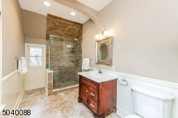 Walk-in shower, linen closet