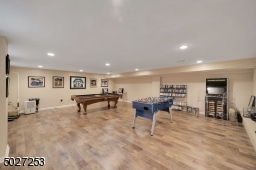 Finished lower level with luxury vinyl flooring.