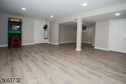 Vinyl Flooring, Recessed Lighting and Storage.