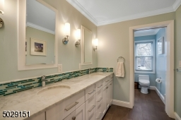 Beautifully appointed large full bathroom. Look at the details!