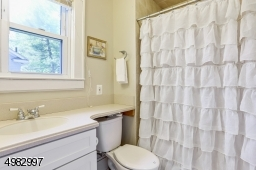 vanity, shower over tub