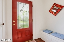 Welcome through the Red Door, bench seating