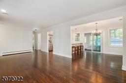 Refinished hardwood floors throughout
