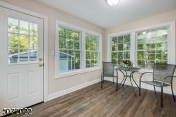 Tile floor, new windows and doors for four-season enjoyment