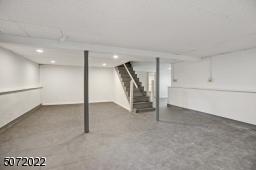Tile floor throughout basement